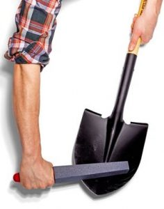 Sharp the shovel